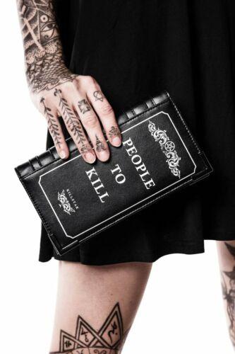Killstar Kill List Book Goth Horror Punk Occult Witch Clutch Wallet K-PRS-U-2270