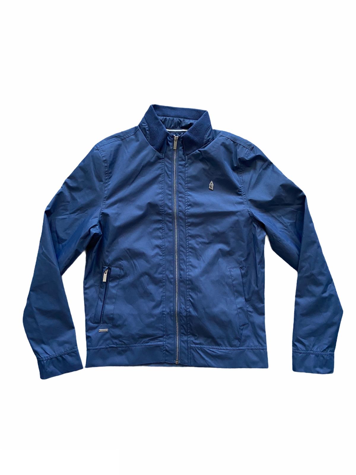 Everton Football Jacket Men's Metal Crest Casual Jacket - Navy - New