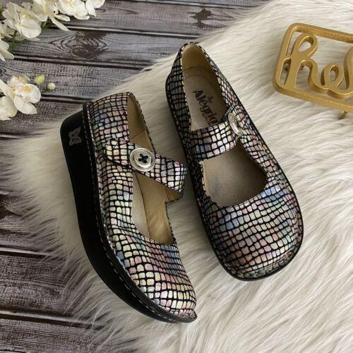 Alegria Paloma Slip On Shoe Size 38 Pastel Stone I