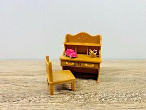 Sylvanian-Families-Children-039-s-Bedroom-Study-Dresser-Shelf-Desk-Unit-Set-5153