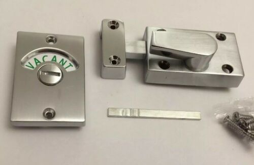 Privacy Lock bathroom Indicator Bolt,Vacant Engage Toilet Door Bolt Satin Chro