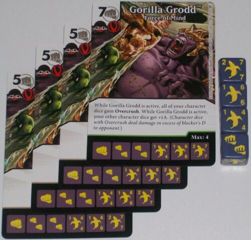4 x GORILLA GRODD SUPPLANTING SOLOVAR 18 Green Arrow and The Flash Dice Masters