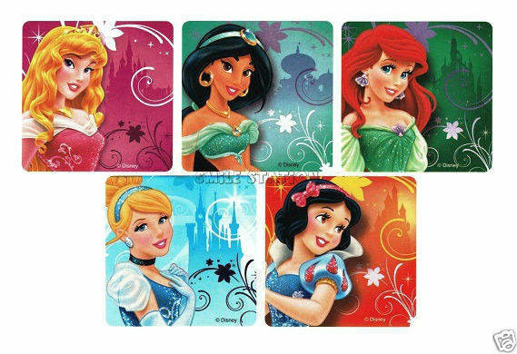 15 Disney Princess Enchanted Tale Stickers Kid Party Goody Loot Bag Favor Supply