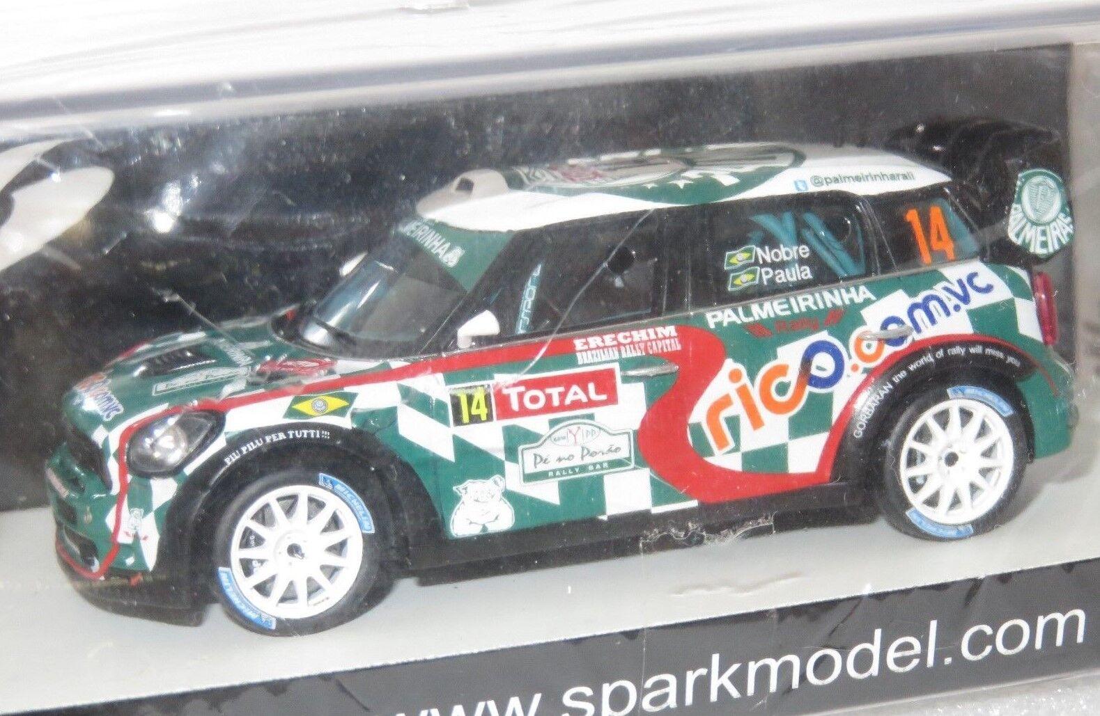 1/43 John Cooper Cooper Cooper Works Mini WRC Palmeras Rallye Monte Carlo 2012 P. Nobre | Excellent (dans) La Qualité  2338fc