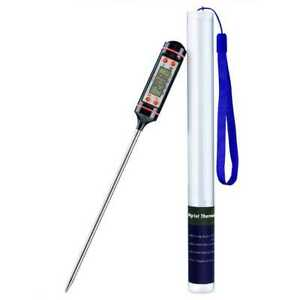 Digitales Thermometer Display für BBQ Fleisch Milch Küchenthermometer Schw