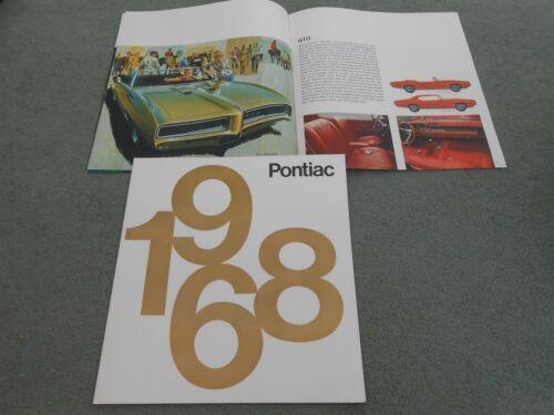 68 BROCHURE GTO LEMANS Etc 24-p 1968 PONTIAC FIREBIRD GRAND PRIX BONNEVILLE