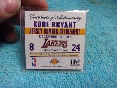 Kobe Bryant Jersey Number Retirement Commemorative Coin 39mm Solid Bronze 633204057183   eBay