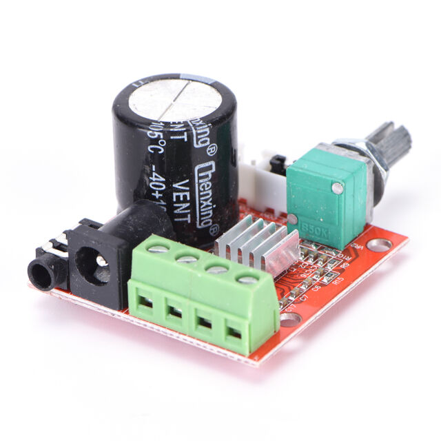 12V Mini Hi-Fi PAM8610 Audio Stereo Amplifier Board 2X10W Dual Channel D Class ß