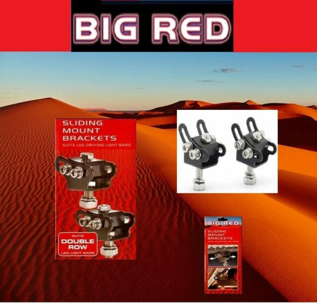 Big Red Sliding Mount Brackets For Double Row Big Red LED Light Bars BR9080