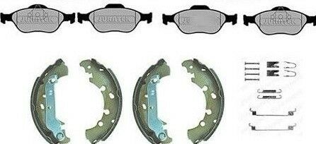 FORD FUSION FRONT BRAKE PADS /& REAR SHOES WITH FITTING KIT