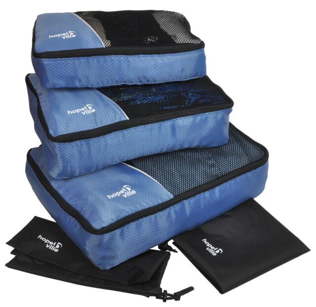 HOPEVILLE- Kleidertaschen-Set, 3 Koffertaschen, PLUS Wäschebeutel und Schubeutel