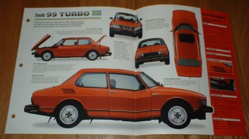 ★★ 1978 Saab 99 Turbo Original Imp Prospekt Brille Info 77 78 79 80 ★★