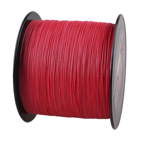 300M Extreme Red Braid Superb Dyneema PE Braided Fishing Line Fresh//Saltwater