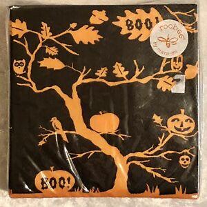 NEW NWT Halloween Paper Napkins Orange Black 50 ct Pumpkin Bat Cat