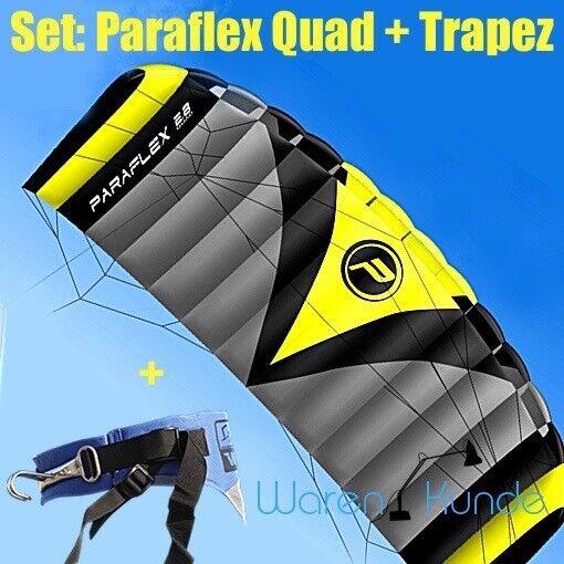 PARAFLEX QUAD 2.8 + TRAPEZ  Set Set Set Wolkenstürmer Kite Lenkdrachen Lenkmatte b77630