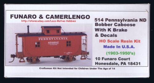 LMH Funaro F&C 514  PENNSYLVANIA  ND Bobber Caboose Kit  PRR 1-PIECE Roof Cupola