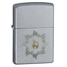 Zippo Lighter Ring of Fire Satin Chrome 21192 Free Shipping Pocket New