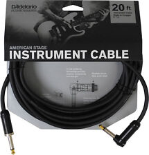 PLANET WAVES PW-AMSGRA-20  AMERICAN STAGE 20' INSTRUMENT CABLE, RIGHT ANGLE PLUG