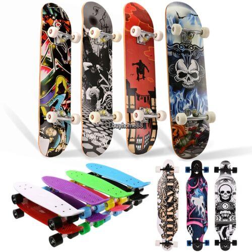 22/'/'24/'/'31/'/'41/'/' Retro Skateboard Mini Penny Board Longboard Complete Deck USA