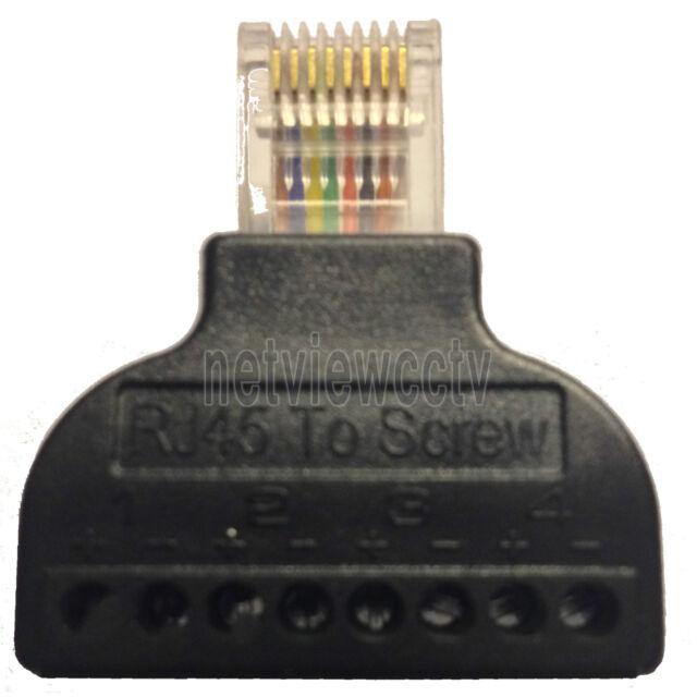 UTP RJ45 to Screw Terminal Adapter Converter EASY Cat5 Cat5e