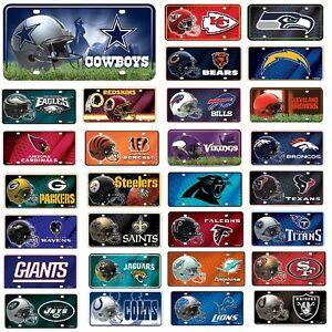 NFL-Teams-Metal-License-Plate-Tag-Pick-Your-Team