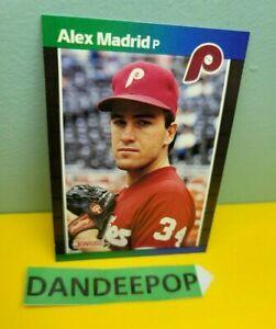 1989 Alexander Alex Madrid Jr. Error DonRuss Baseball Card 604