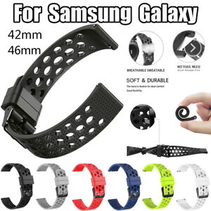 Silicone-Bracelet-Strap-Watch-Band-Replacement-For-Samsung-Galaxy-Watch-42-46mm