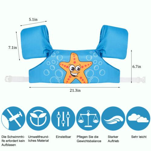 Schwimmweste Schwimmhilfe Passend Schwimmflügel Kinder Kleinkinder 2-6 Jahre