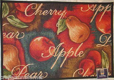 Windham Cherry Apple Pear Fruit Kitchen Tapestry Rug 19 x 27