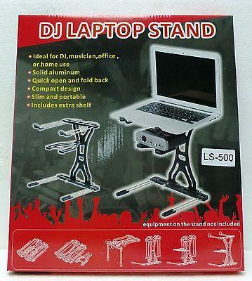 LASE LS 500 ALUMINUM FOLDING DJ LAPTOP Stand & Tray
