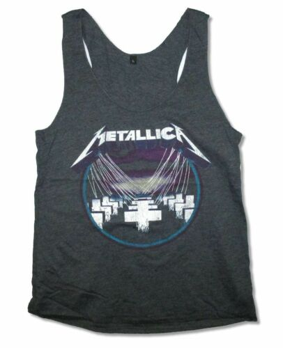 Metallica Purple Master of Puppets Girls Juniors Heather Black Tank Top Shirt