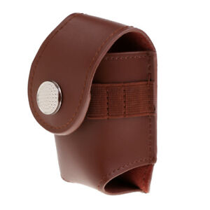 Portable-Leather-Golf-Ball-Holder-Pouch-Tees-Divot-Tool-Storage-Bag-Brown