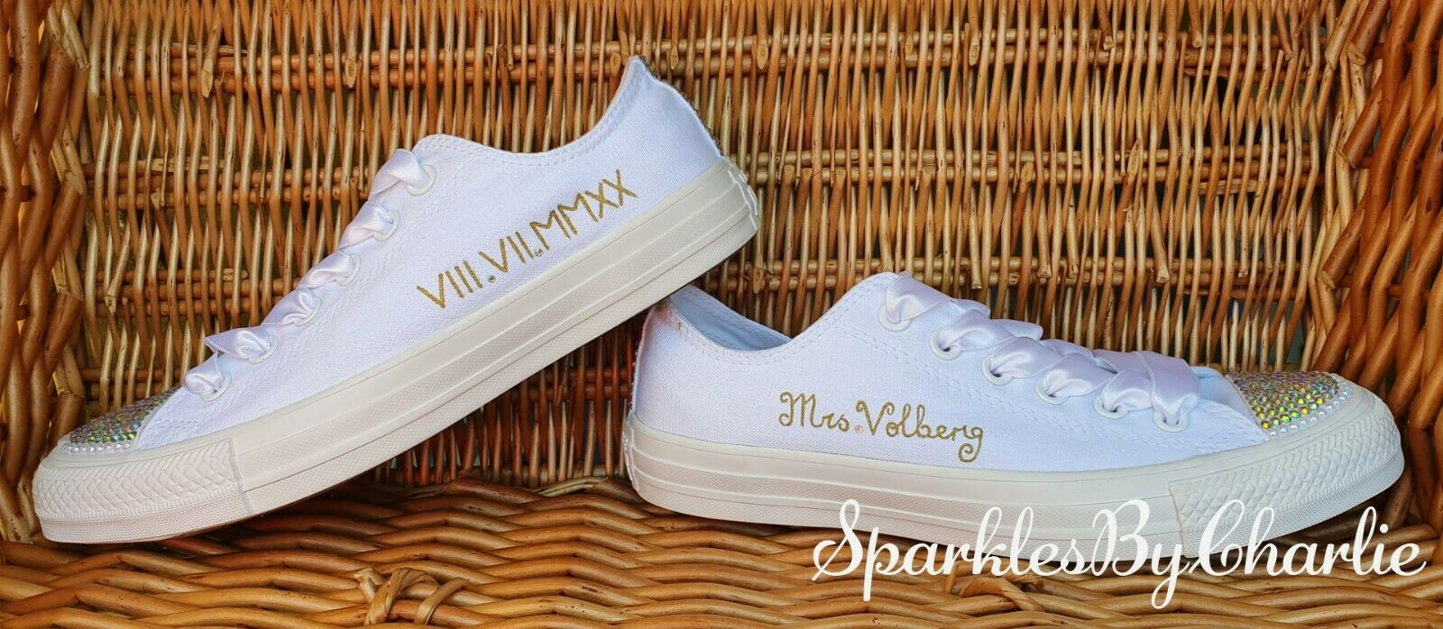 Bridal wedding shoes, wedding trainers, wedding Converse sneakers, flat converse