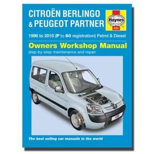 haynes manual citroen berlingo peugeot partner p 60 workshop rh ebay co uk citroen nemo service manual pdf citroen nemo maintenance manual