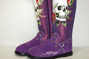 Ed-Hardy-Snowblazer-Nylon-Purple-18FSZ305W-Women-Boots