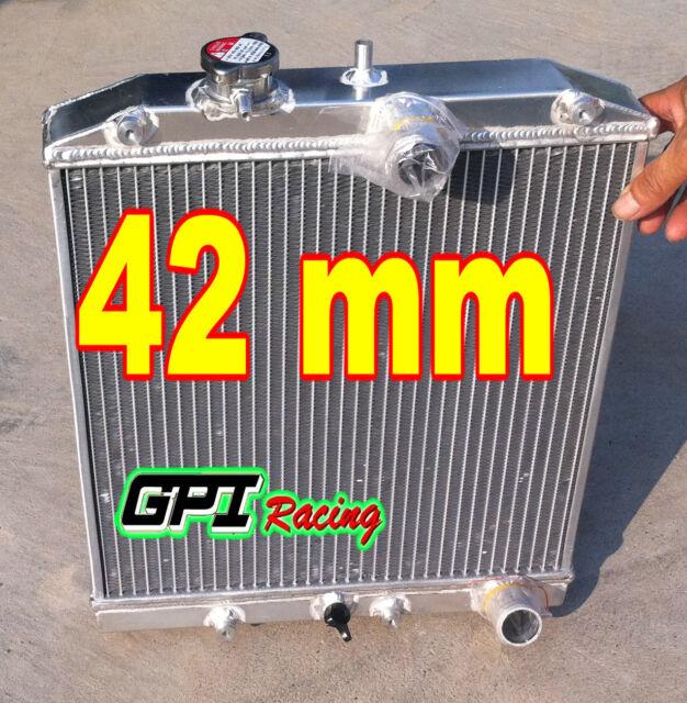 FOR 32MM IN/OUT PIPE 1992-2000 Honda Civic EK EG B16 B18 ALUMINUM RADIATOR