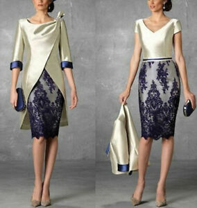 2PCS-Mother-Of-The-Bride-Groom-Dresses-Suits-Outfits-Formal-Evening-Guest-Gowns