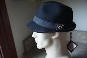 7bec33adb1d5 Details about Men's Carlos Santana 100% Wool Black Felt Fedora Hat W/ Guitar  Pin XL San315