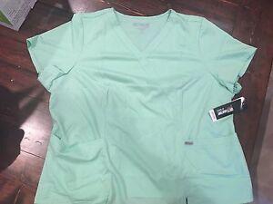 NWT Grey's Anatomy by Barco Scrub Shirt / Top 4XL Honeydew 41101