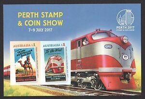 AUSTRALIA-2017-PERTH-STAMP-SHOW-TRANS-AUSTRALIAN-RAILWAY-IMPERF-SOUVENIR-SHEET