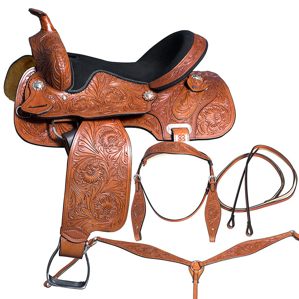14 In Western Horse Barrel Racing  Saddle Pleasure Great American Leather U-6-14  team promotions