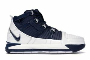 Mens-Nike-Zoom-LeBron-3-III-QS-Midnight-Navy-White-Metallic-Silver-AO2434-103