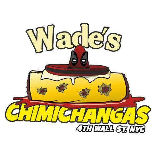 Chimichangas  T Shirt in White Unisex Free Postage 48hrs Deadpool T-shirt