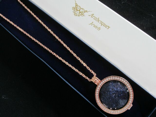 MEDIUM GENUINE STERLINA MI MILANO NECKLACE/PENDANT NAVY AGATE COIN/MONEDA AJMM