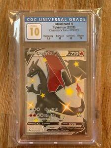 Pokémon Champions Path SHINY CHARIZARD V  79/73 CGC PRISTINE 10!!!  PSA?!