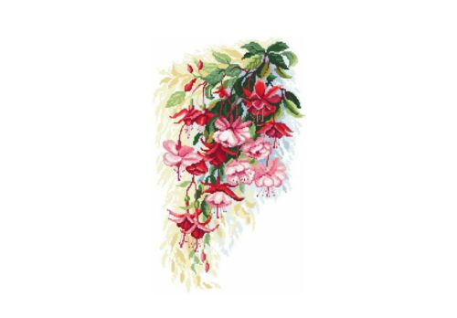 Fuchsia Flower Large Sticky White Paper Stickers Labels NEW