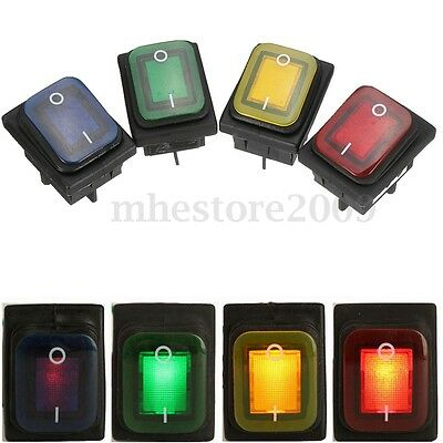 1Pcs 4Pin Rocker Switch With Lamp Light DPST On/Off Car Boat Waterproof