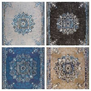 Traditional-Oriental-Medallion-Distressed-Area-Rug-8x10-Multicolor-Rugs-5x8