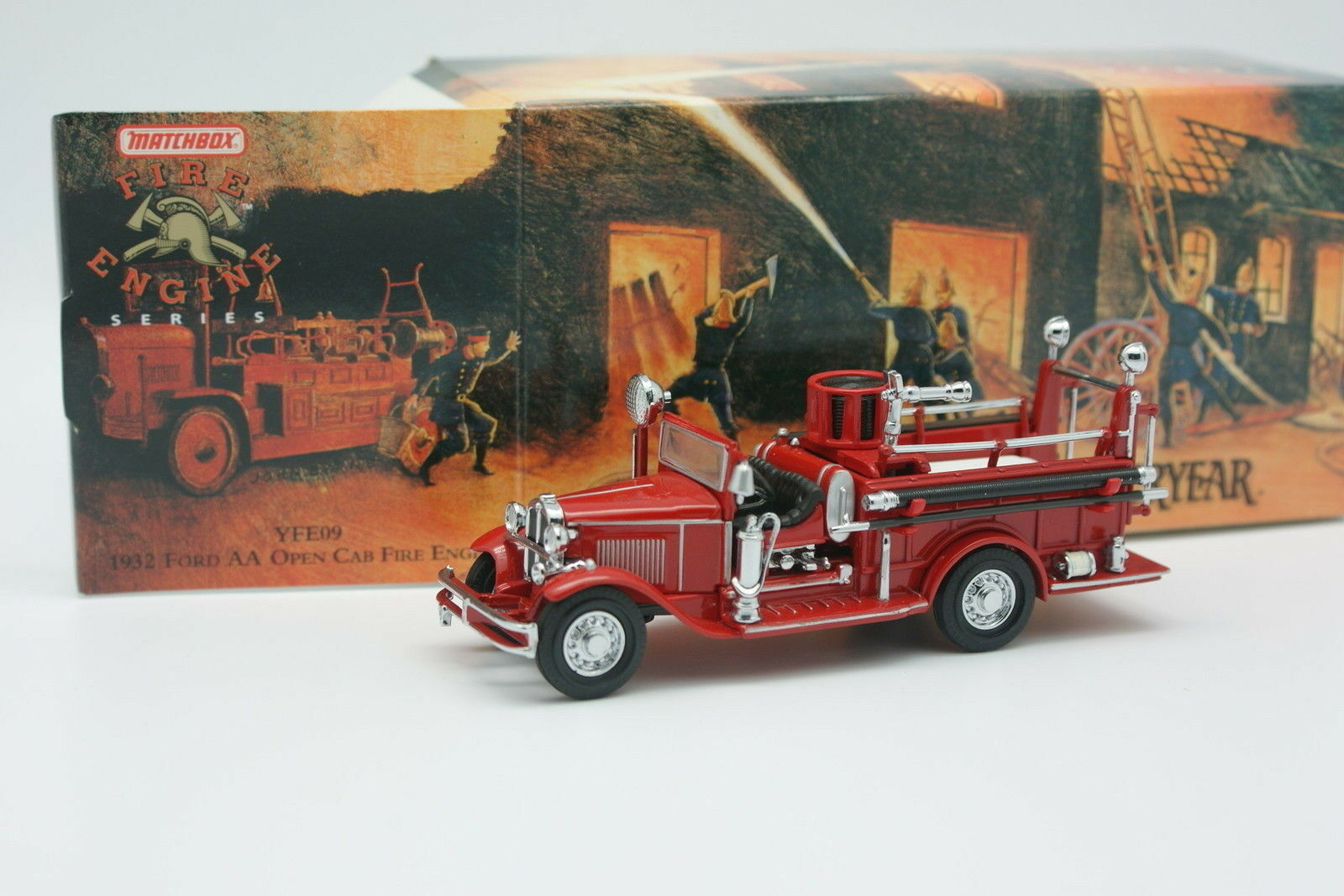 Matchbox Yesteryear Fire Fire Fire Engine Pompieri 1 43 - Ford AA Open Cab. 1932 032ae3