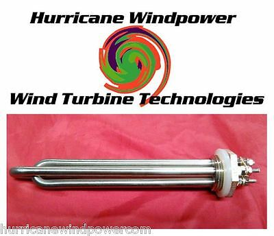 Lot of 2 DC Water Heater Element 12 Volt 600 Watt 4 Wind Generator Solar Energy